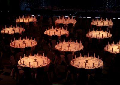 Oświetlenie stołów