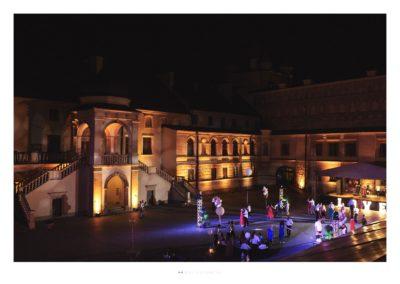 Zamek Krasiczyn - oświetlenie 1