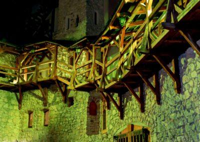 Zamek Korzkiew - dekoracja światłem 12