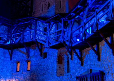 Zamek Korzkiew - dekoracja światłem 16
