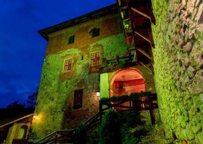 Zamek Korzkiew - dekoracja światłem 2